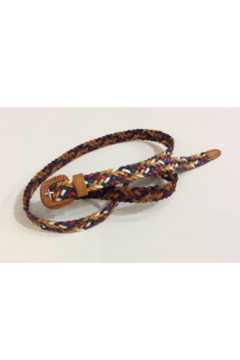 DiJore Narrow colorful multi-braid leather belt - Alternate List Image