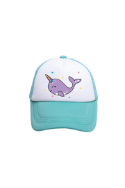 Tiny Trucker  Narwhal Trucker Hat - Front cropped