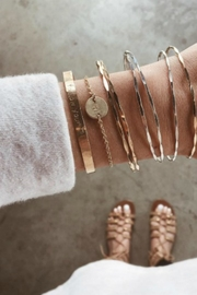 Nashelle Coin Initial Bracelet - Side cropped