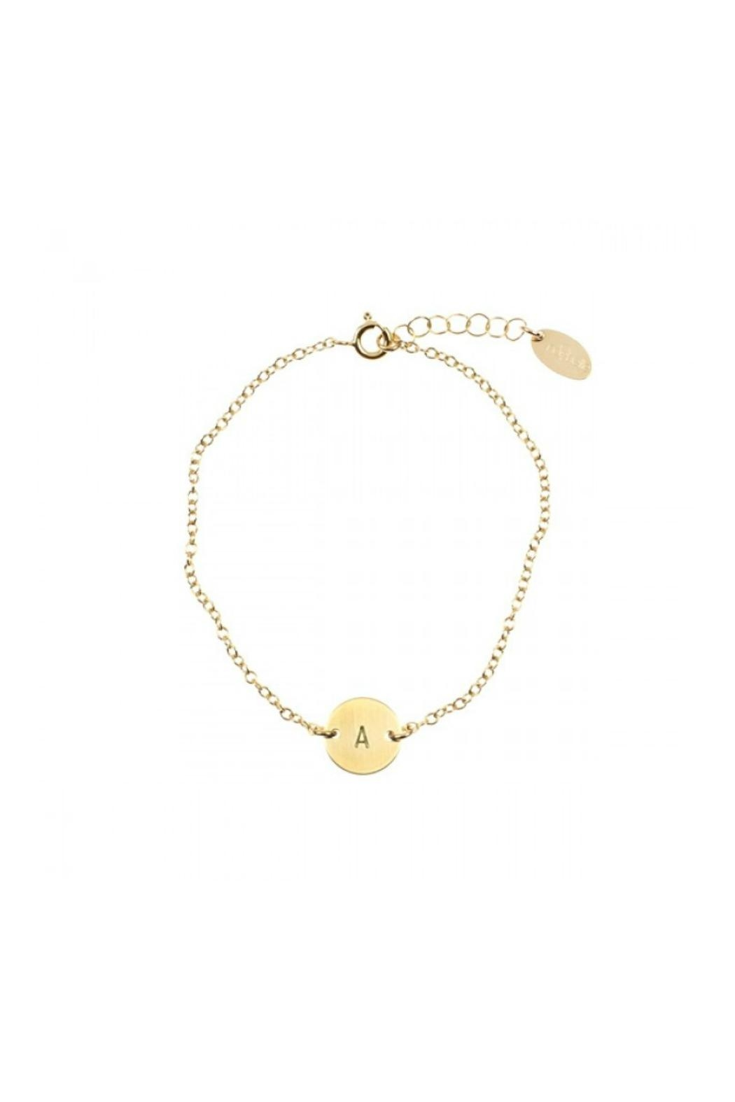 Nashelle Coin Initial Bracelet - Front Cropped Image
