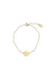 Nashelle Coin Initial Bracelet - Front cropped