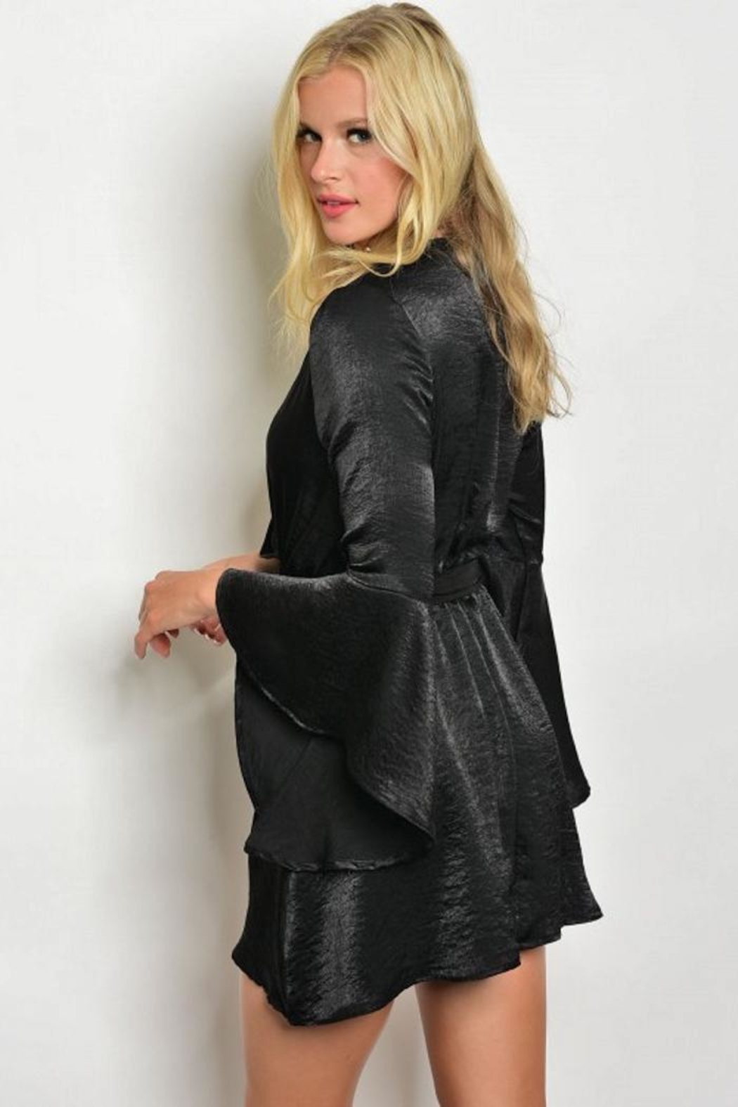 People Outfitter Nashville Bell-Sleeve Dress - Front Full Image