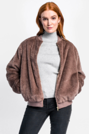 Pink Martini Faux Fur Bomber - Product Mini Image