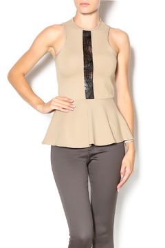 Shoptiques Product: Leather Detail Peplum Top