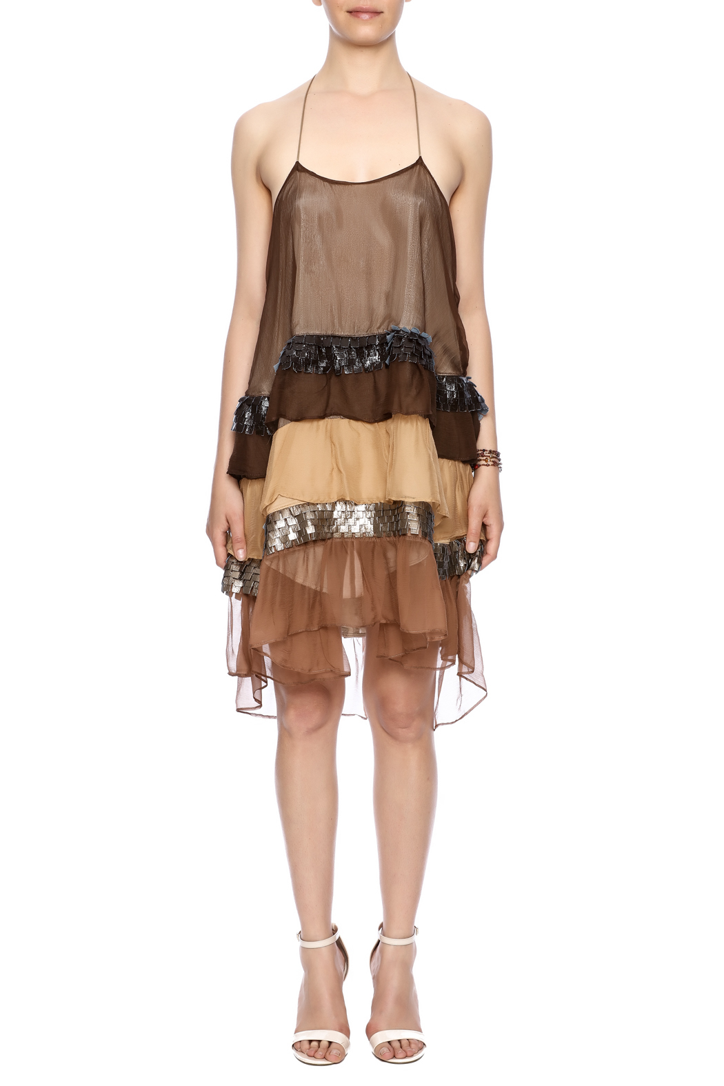Natalia Romano Silk Ombre Dress - Front Cropped Image
