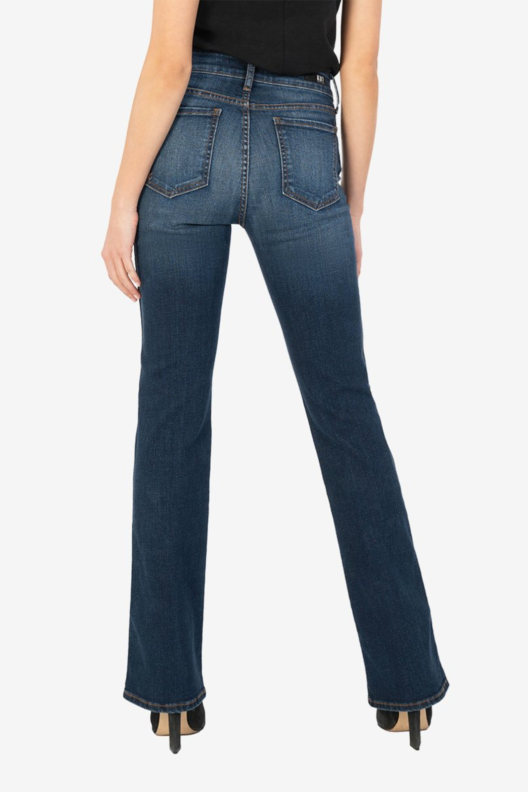 Kut from the Kloth Natalie High Rise Fab Ab - Side Cropped Image