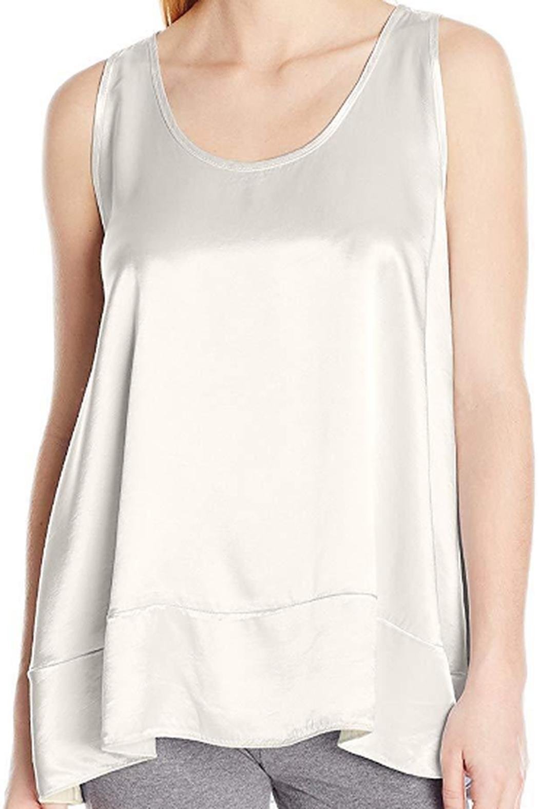 The Birds Nest NATALIE SATIN RUFFLE TANK - Front Cropped Image