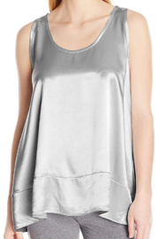 The Birds Nest NATALIE SATIN RUFFLE TANK - Front cropped