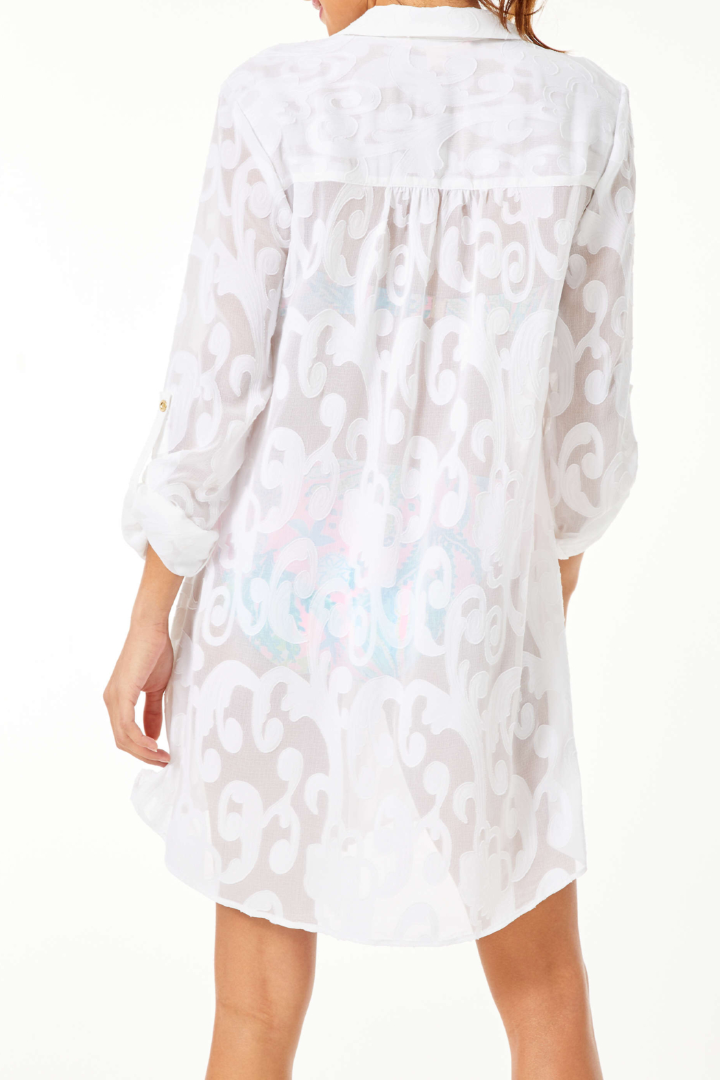 Lilly Pulitzer  Natalie Shirtdress Coverup - Front Full Image