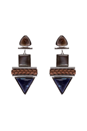 Natalie Waldman Blue Hamza Earrings - Product Mini Image