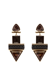 Natalie Waldman Sand Hamza Earrings - Product Mini Image