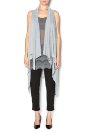 Natasha Couture Fashion Grey Asymmetric Vest - Product Mini Image