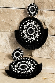 Natasha Couture Fashion Aztec Seed-Bead Earrings - Product Mini Image