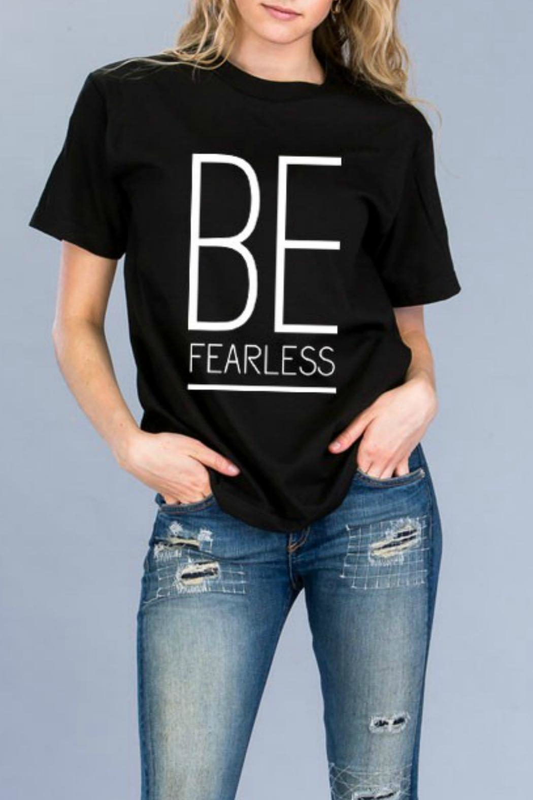 Natasha Couture Fashion Be Fearless Tee - Front Cropped Image
