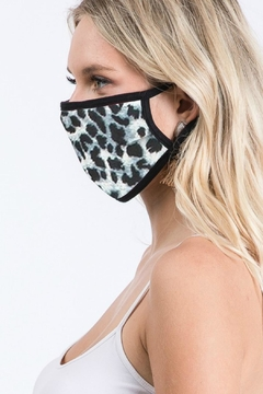 Natasha Couture Fashion Black Animal Print Face Mask - Alternate List Image