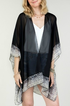 Natasha Couture Fashion Black Snake-Print Kimono - Product List Image