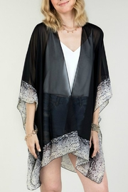 Natasha Couture Fashion Black Snake-Print Kimono - Product Mini Image