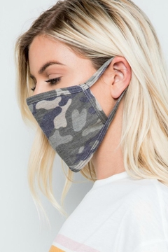 Natasha Couture Fashion Camo Print Face Mask - Alternate List Image