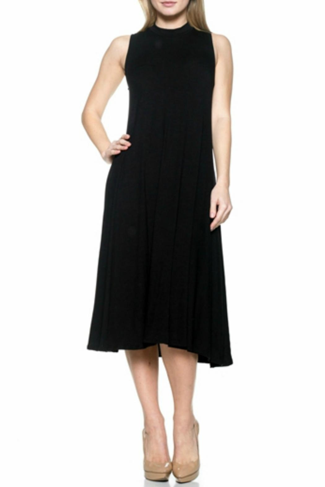 Natasha Couture Fashion Center Stage Pocketed-Dress - Front Cropped Image