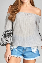 Natasha Couture Fashion Cherice Off-The-Shoulder Top - Product Mini Image