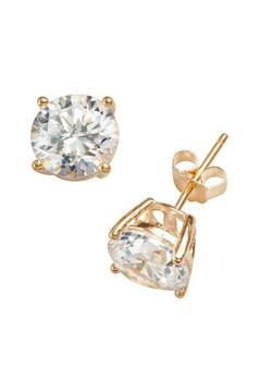 Natasha Couture Fashion Gold Cubic Zirconia Studs - Product List Image