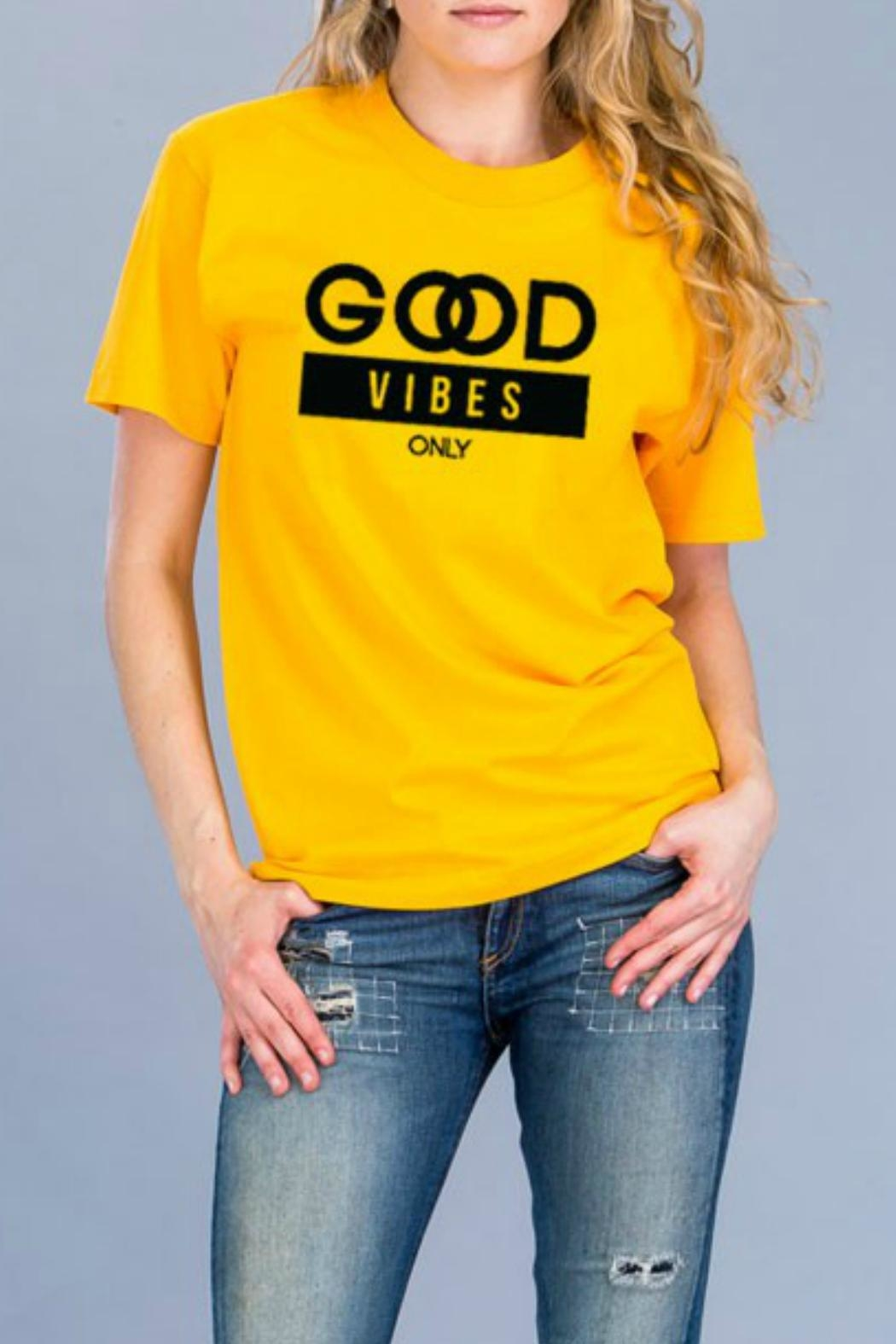 Natasha Couture Fashion Good Vibes Only-Tee - Front Cropped Image