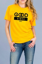 Natasha Couture Fashion Good Vibes Only-Tee - Front cropped