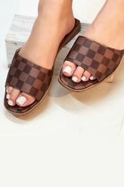 Natasha Couture Fashion Kendall Checkered Sandals - Product Mini Image