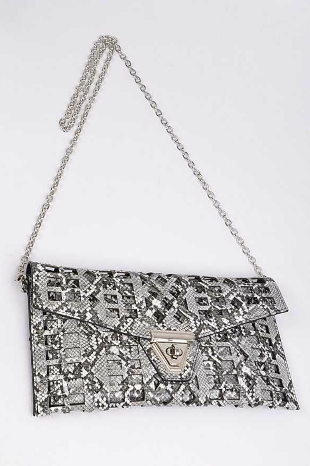 Natasha Couture Fashion Kennedy Cutout Clutch - Front Full Image