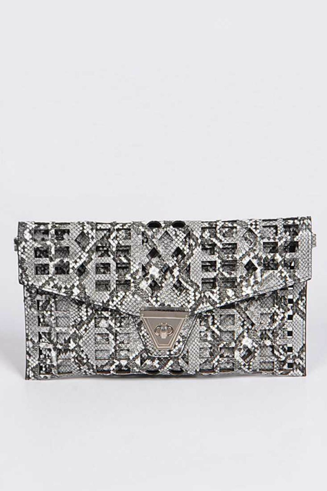 Natasha Couture Fashion Kennedy Cutout Clutch - Main Image