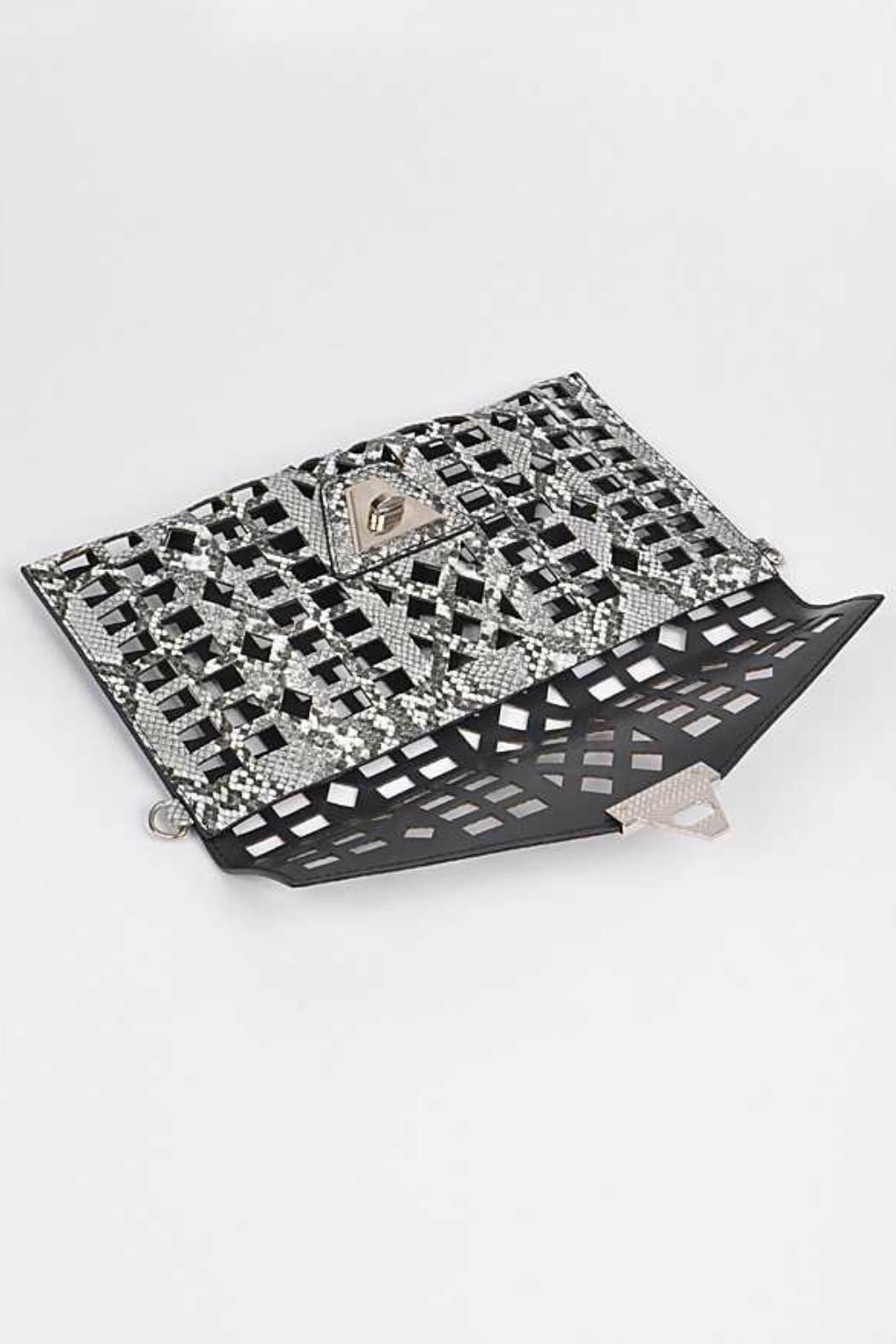 Natasha Couture Fashion Kennedy Cutout Clutch - Side Cropped Image