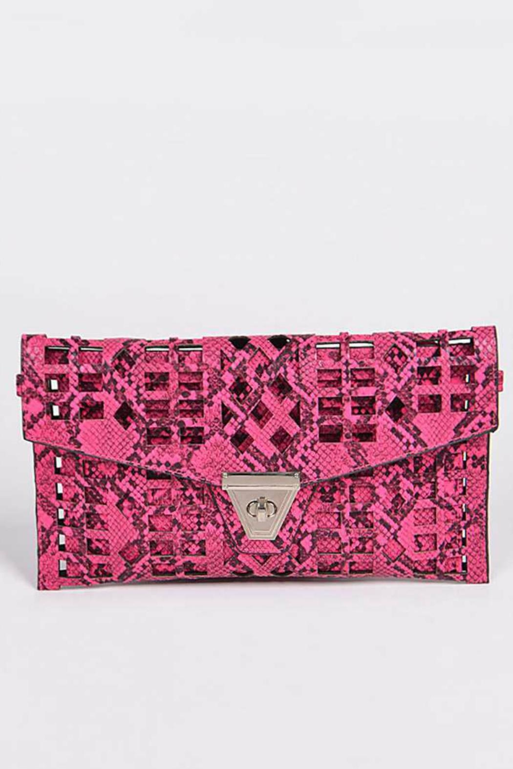 Natasha Couture Fashion Kennedy Cutout Clutch - Front Cropped Image
