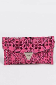 Natasha Couture Fashion Kennedy Cutout Clutch - Front cropped