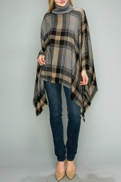 Natasha Couture Fashion Kingsley Plaid Poncho - Product List Image