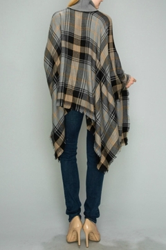 Natasha Couture Fashion Kingsley Plaid Poncho - Alternate List Image