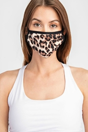 Natasha Couture Fashion Leopard Print Face-Mask - Front cropped