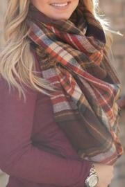 Natasha Couture Fashion Plaid Blanket Scarf - Product Mini Image