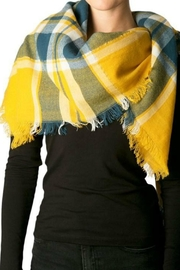 Natasha Couture Fashion Plaid Blanket Scarf - Front cropped