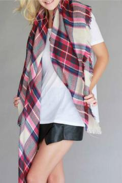 Natasha Couture Fashion Plaid Blanket Scarf - Alternate List Image