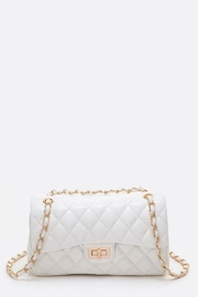 Natasha Couture Fashion Quilted Shoulder Bag - Front cropped