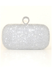 Natasha Couture Fashion Silver Rhinestone Clutch - Product Mini Image