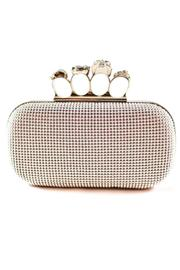 Natasha Couture Fashion Silver Skull Clutch - Product Mini Image