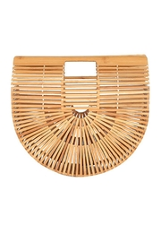 Natasha Couture Fashion Wooden Clutch Purse - Product Mini Image