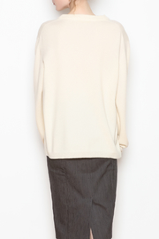 National Cashmere Roundneck Cashmere Sweater - Back cropped