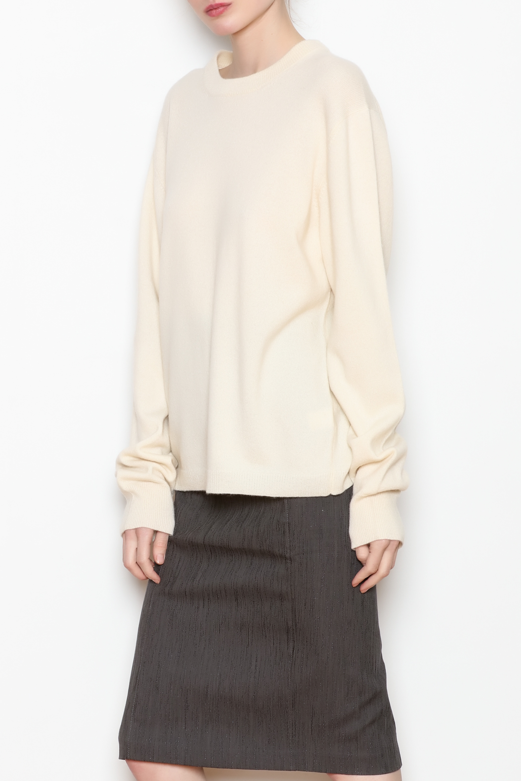 National Cashmere Roundneck Cashmere Sweater - Front Full Image