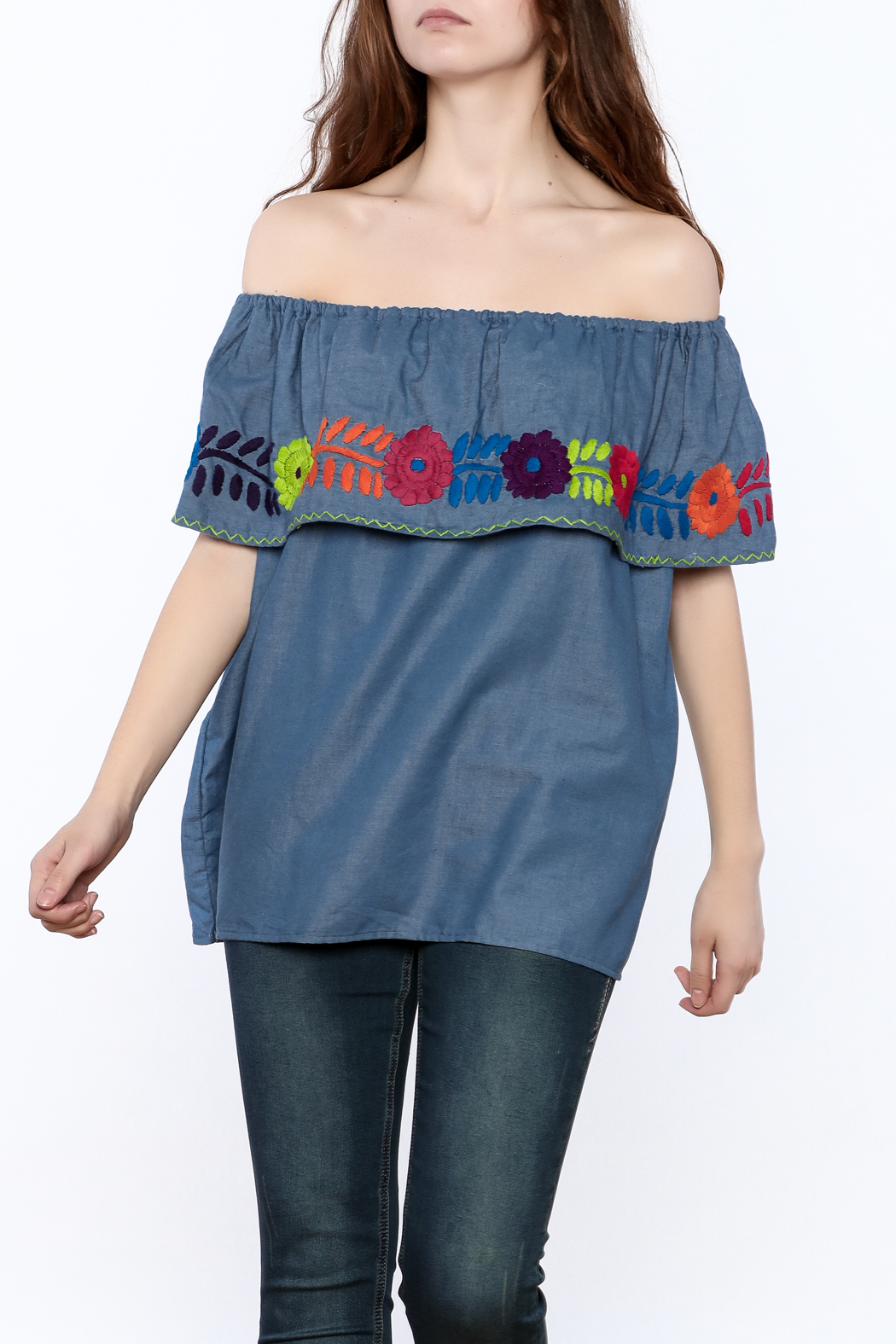 Nativa Four-Way Blouse - Front Cropped Image
