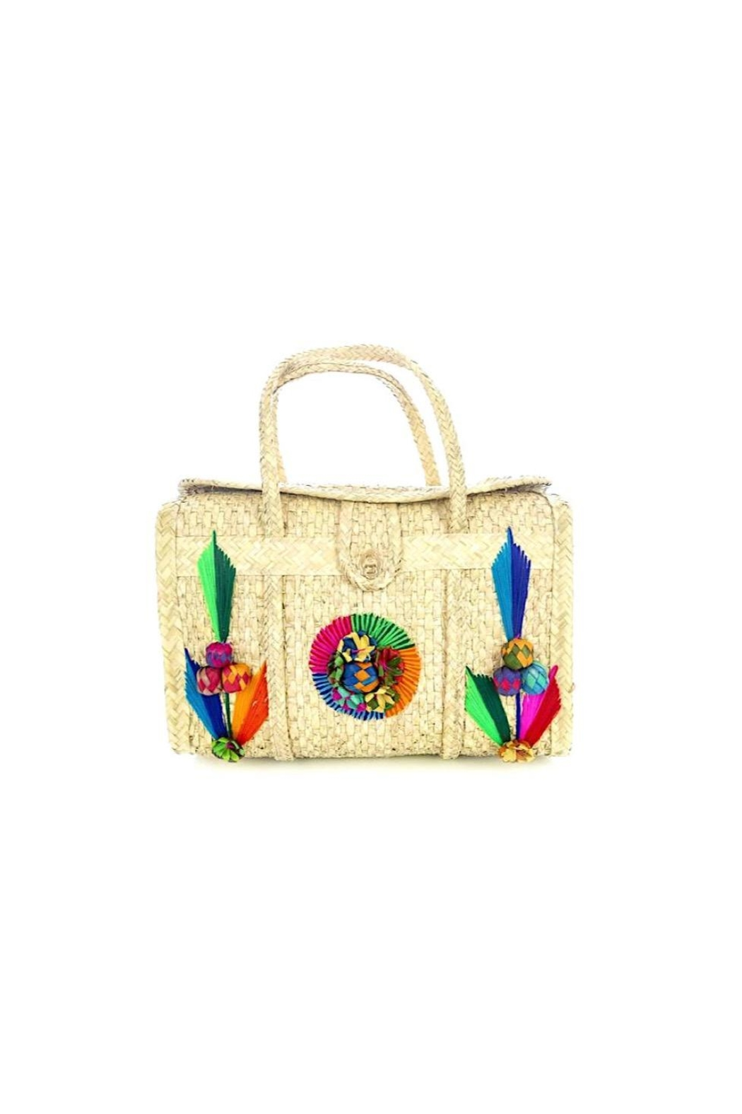 Nativa Artisan Palm Tote - Front Cropped Image