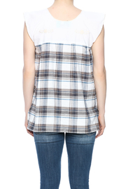Nativa Embroidered Plaid Blouse - Back cropped