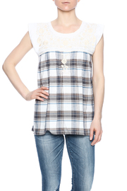 Nativa Embroidered Plaid Blouse - Product Mini Image