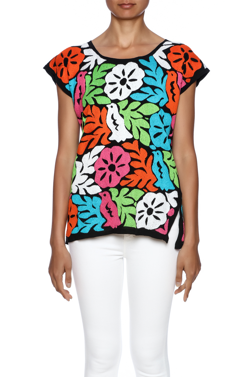 Nativa Jalapa Blouse - Side Cropped Image